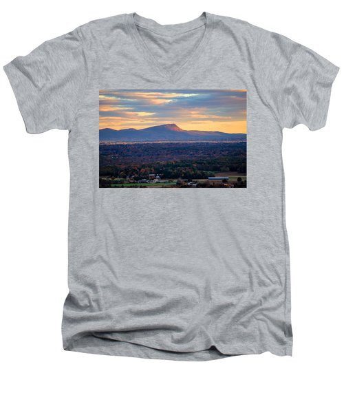 Sugarloaf View, South Deerfield, Ma Men's V-Neck T-Shirt