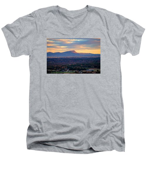 Sugarloaf View, South Deerfield, Ma Men's V-Neck T-Shirt