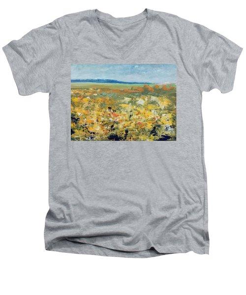 Suggestion Of Flowers Men's V-Neck T-Shirt
