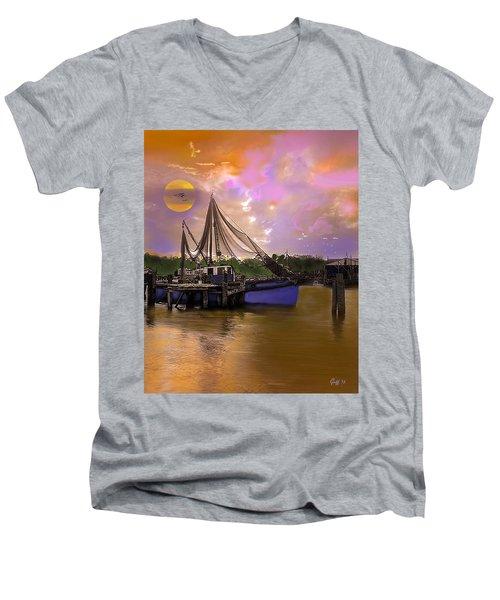 Sultry Bayou Men's V-Neck T-Shirt