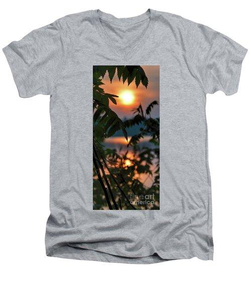 Sumac Sunrise At The Lake Men's V-Neck T-Shirt