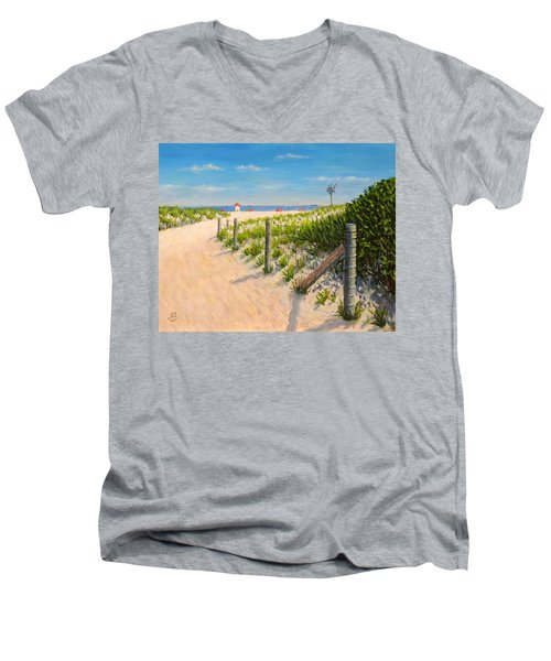 Summer 12-28-13 Men's V-Neck T-Shirt by Joe Bergholm