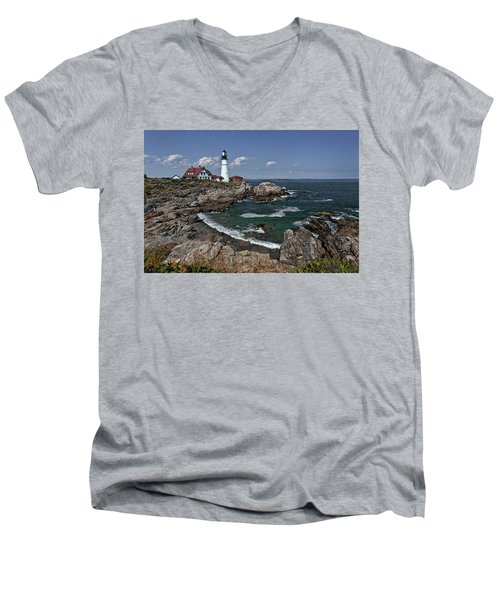 Summer Afternoon, Portland Headlight Men's V-Neck T-Shirt