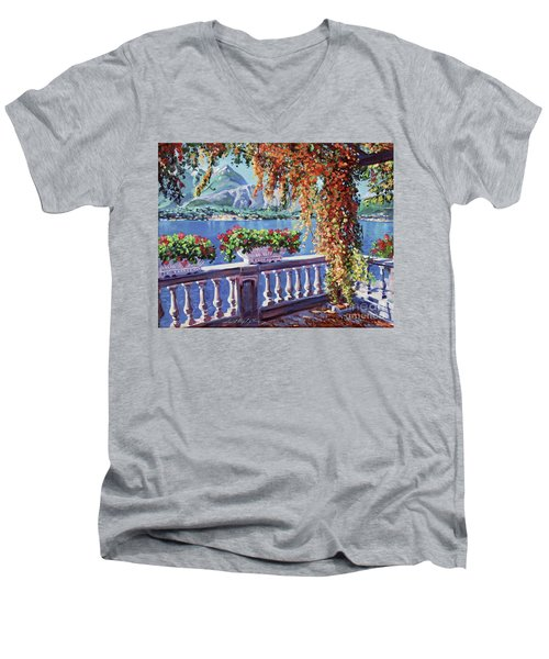 Summer At Lake Como Men's V-Neck T-Shirt