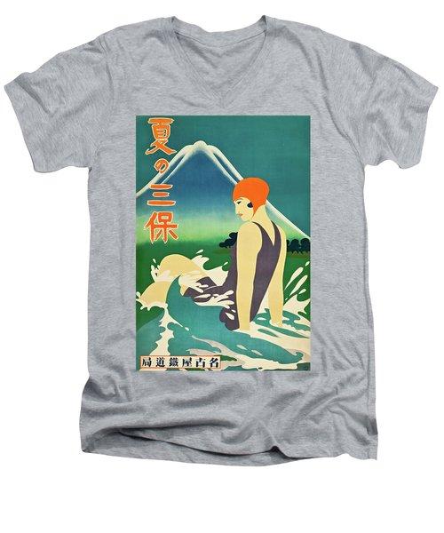 Summer At Miho Peninsula 1930 Men's V-Neck T-Shirt