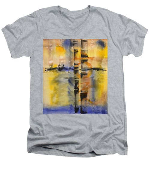 Summer Bamboo  Men's V-Neck T-Shirt