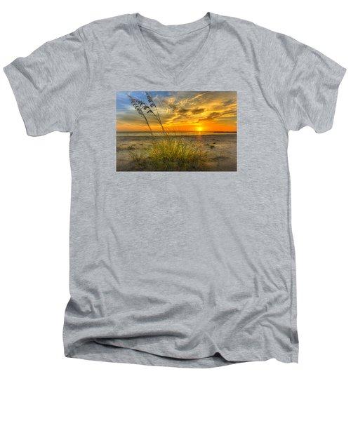 Summer Breezes Men's V-Neck T-Shirt by Marvin Spates
