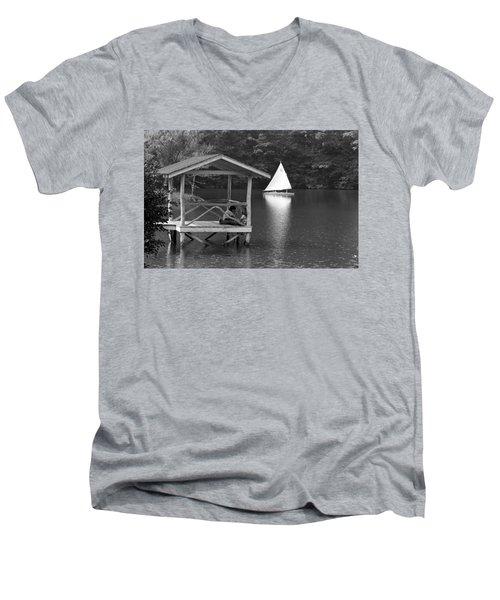 Summer Camp Black And White 1 Men's V-Neck T-Shirt