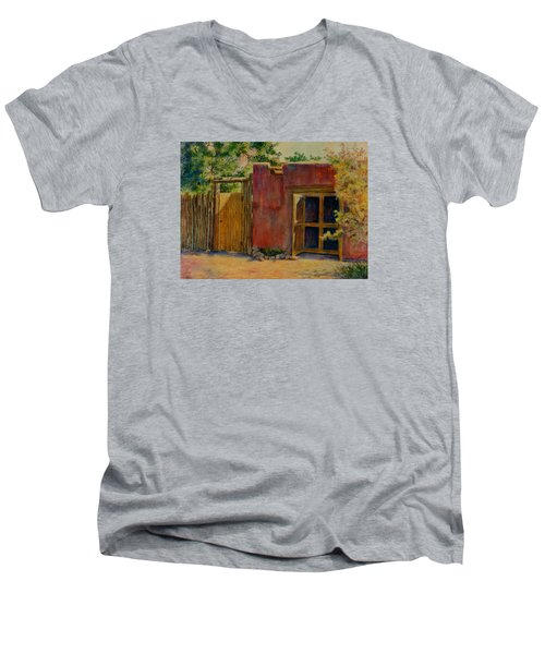 Summer Day In Santa Fe Men's V-Neck T-Shirt by Ann Peck