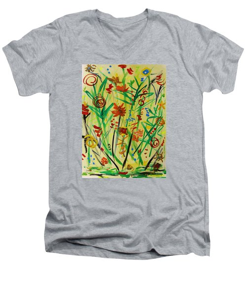 Summer Ends Men's V-Neck T-Shirt by Mary Carol Williams