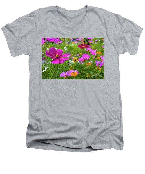 Summer Flower Garden Men's V-Neck T-Shirt