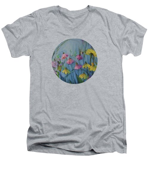 Summer Flower Garden Men's V-Neck T-Shirt