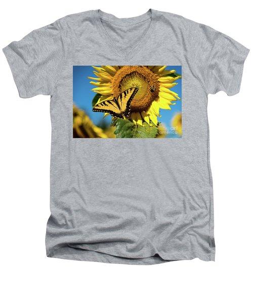 Summer Friends Men's V-Neck T-Shirt by Sandy Molinaro