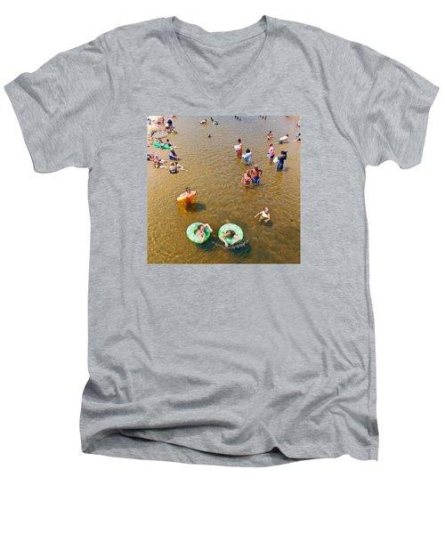 Summer Fun At Duck Creek Men's V-Neck T-Shirt