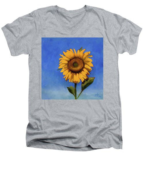 Men's V-Neck T-Shirt featuring the painting Summer Fun by Billie Colson