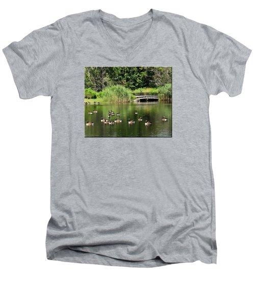 Summer Fun Men's V-Neck T-Shirt by Mikki Cucuzzo
