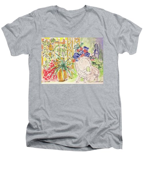 Summer Garden Men's V-Neck T-Shirt