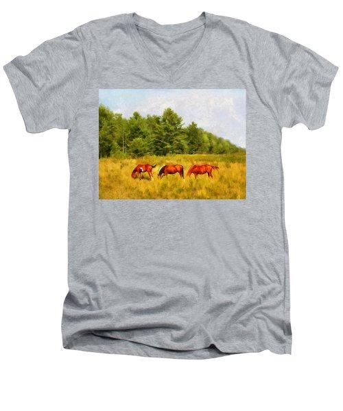 Summer Hay Burners Men's V-Neck T-Shirt