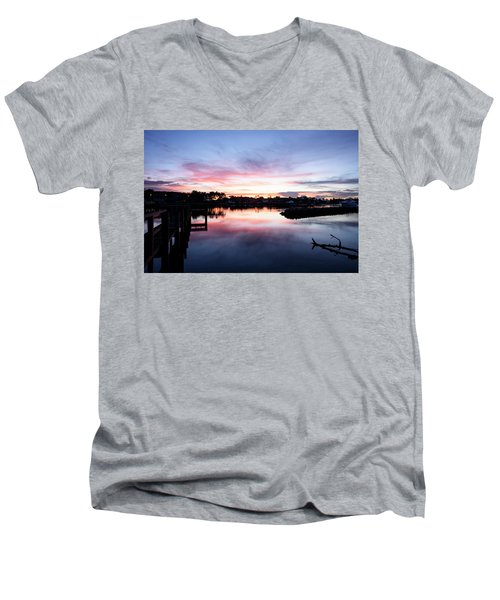 Men's V-Neck T-Shirt featuring the photograph Summer House by Laura Fasulo