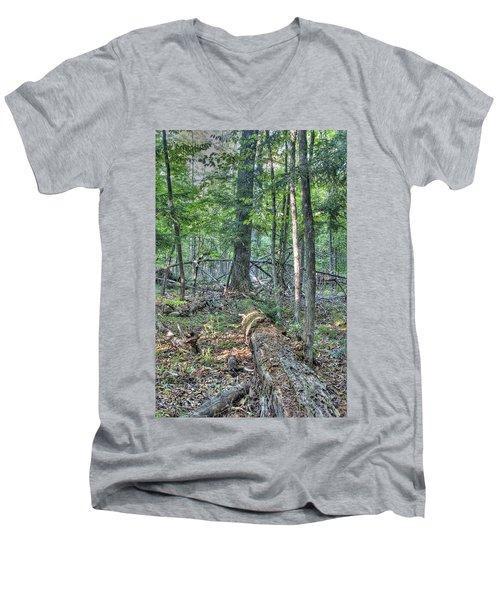 Summer In A Canadian Forest Men's V-Neck T-Shirt