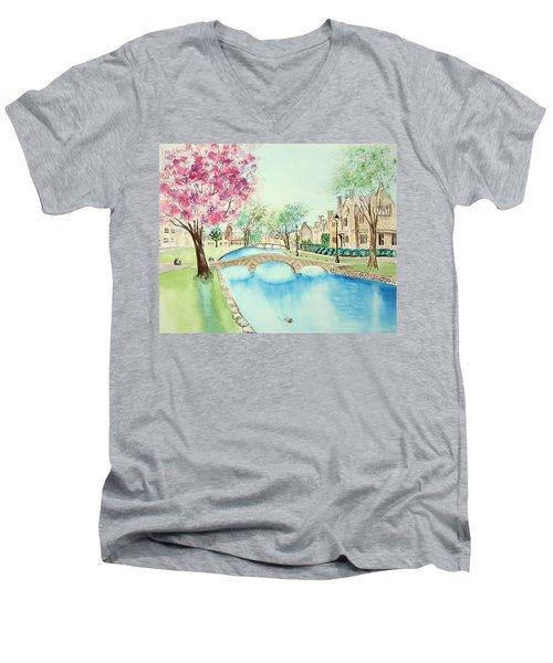 Summer In Bourton Men's V-Neck T-Shirt
