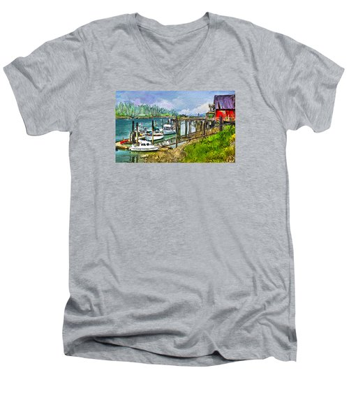 Summer In La'conner Men's V-Neck T-Shirt