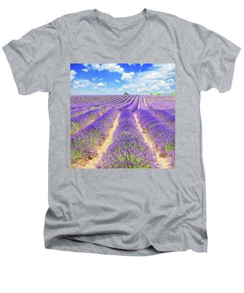 Summer In Provence Men's V-Neck T-Shirt by Anastasy Yarmolovich