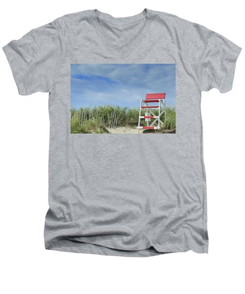 Summer In Red White And Blue Men's V-Neck T-Shirt