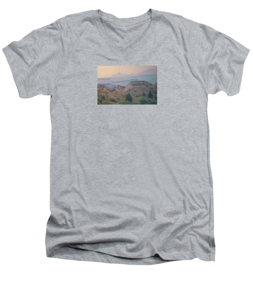 Summer In The Badlands Men's V-Neck T-Shirt