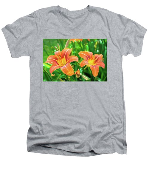 Men's V-Neck T-Shirt featuring the photograph Summer Jubilation by Bill Pevlor