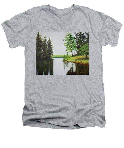Summer Lake Men's V-Neck T-Shirt