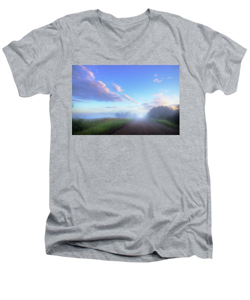 Summer Morning In Alberta Men's V-Neck T-Shirt by Dan Jurak