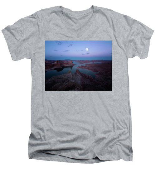 Men's V-Neck T-Shirt featuring the photograph Summer Night by Edgars Erglis