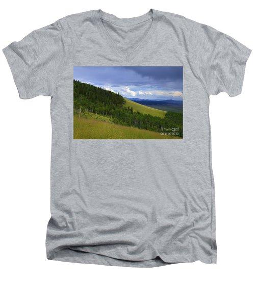 Summer On Kenosha Pass Men's V-Neck T-Shirt