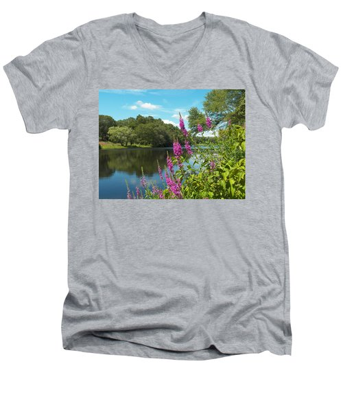 Summer On Kings Pond Men's V-Neck T-Shirt