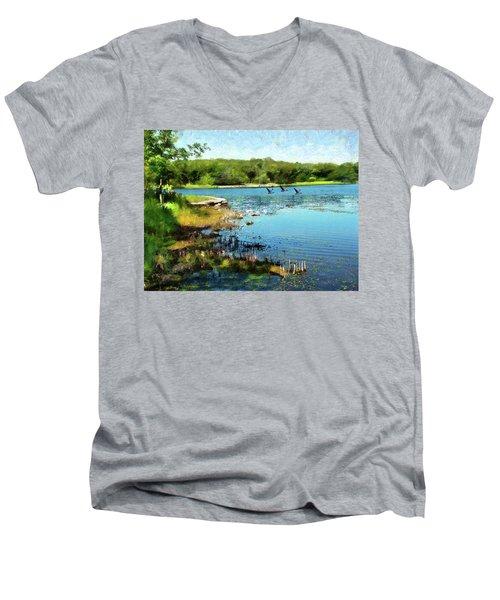 Summer On The Lake Men's V-Neck T-Shirt