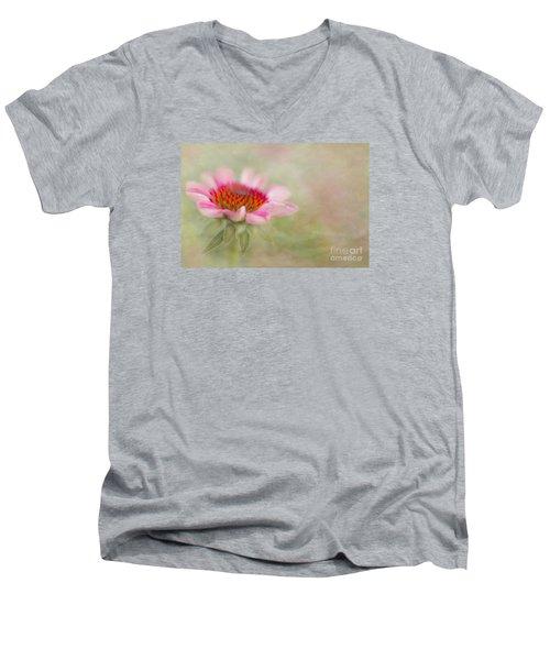Summer Pink Echinacea Men's V-Neck T-Shirt