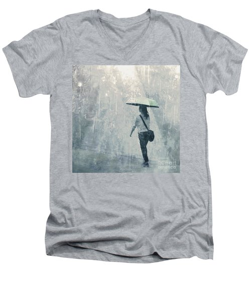 Summer Rain Men's V-Neck T-Shirt