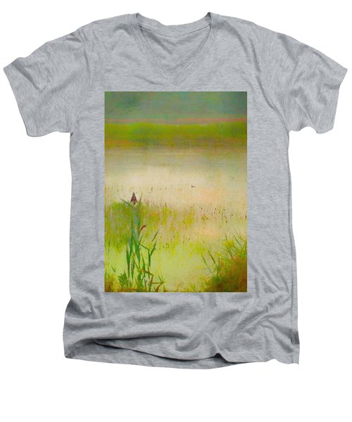Summer Reeds Men's V-Neck T-Shirt by Catherine Alfidi