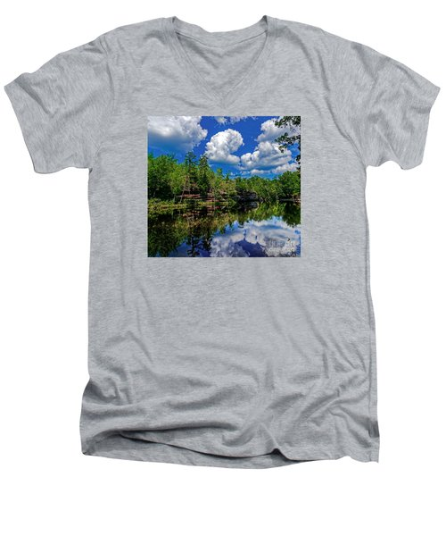 Summer Reflection Men's V-Neck T-Shirt