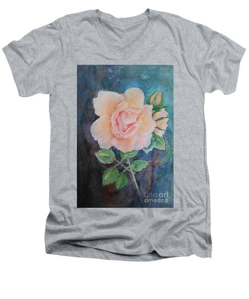 Summer Rose - Painting Men's V-Neck T-Shirt