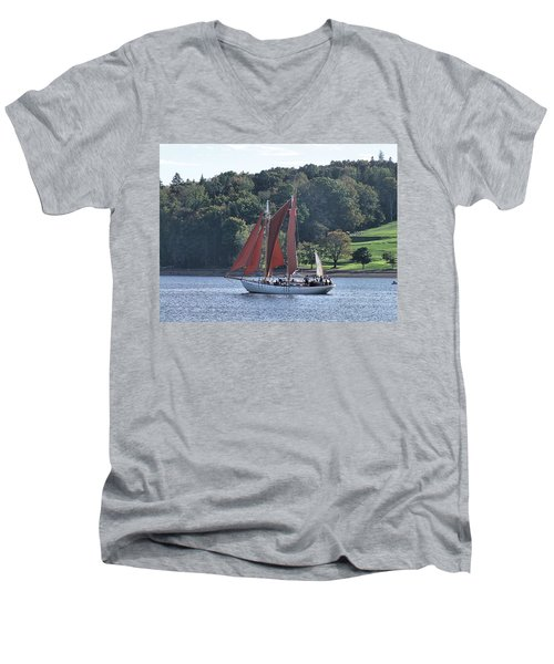 Summer Sailing In Lunenburg Men's V-Neck T-Shirt