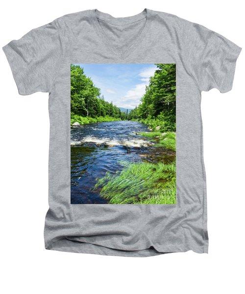 Summer Scene Rangeley Maine  -70742 Men's V-Neck T-Shirt