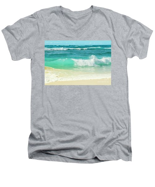 Summer Sea Men's V-Neck T-Shirt by Sharon Mau