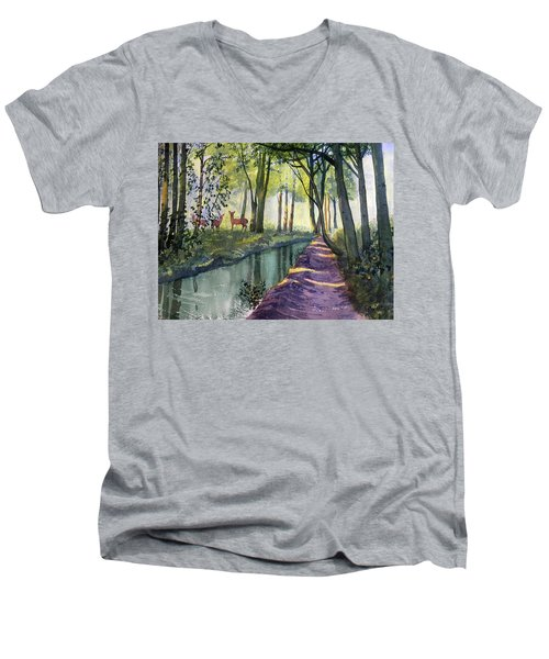 Summer Shade In Lowthorpe Wood Men's V-Neck T-Shirt