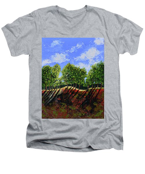Summer Shadows Men's V-Neck T-Shirt by Donna Blackhall