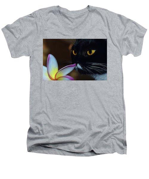 Summer Sniffing Plumaria Men's V-Neck T-Shirt