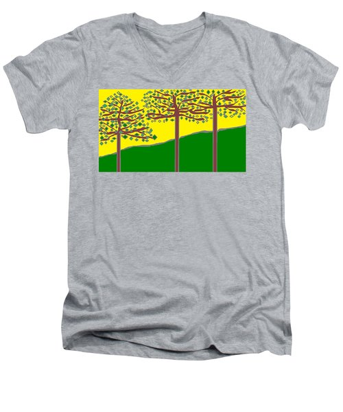 Summer Stained Glass 2 Men's V-Neck T-Shirt