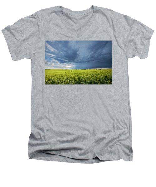 Summer Storm Over Alberta Men's V-Neck T-Shirt