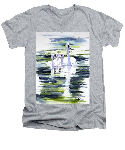 Summer Swans Men's V-Neck T-Shirt